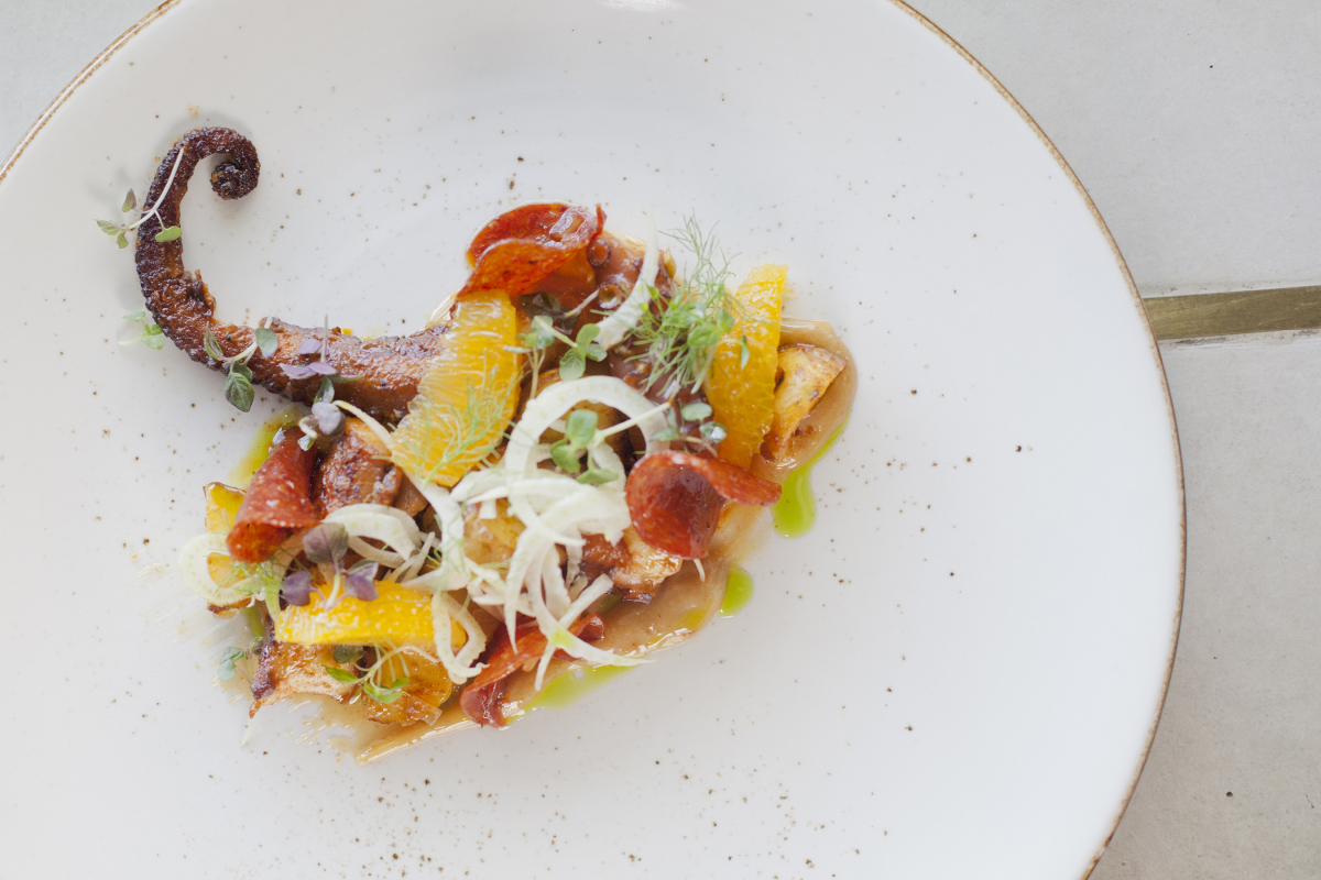Fire Grilled Spanish Octopus