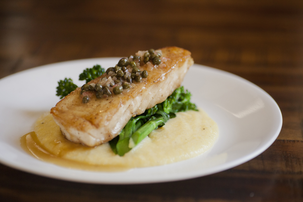 Sea Bass w/Lemon Caper Sauce
