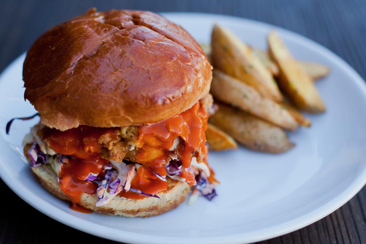 Chicken Sandwich w/ Potato Wedges