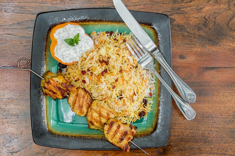 Shirin Polo with Chicken