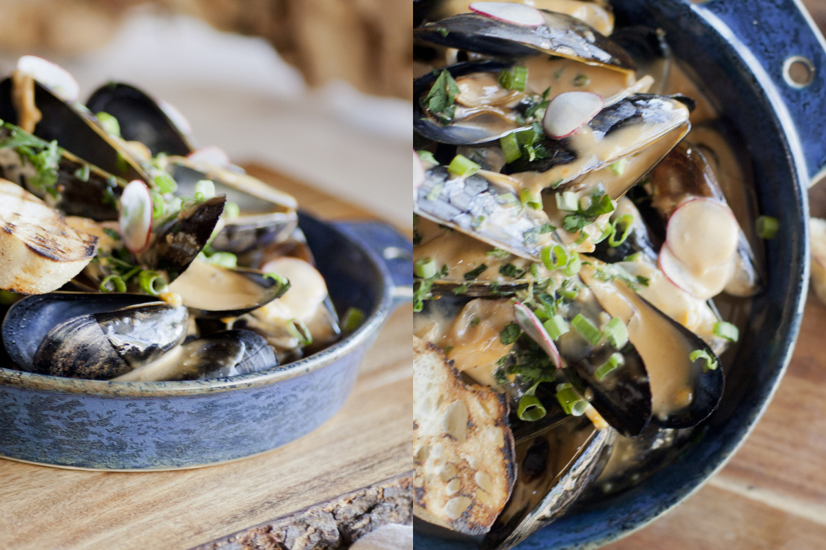 Cider Steamed Mussels