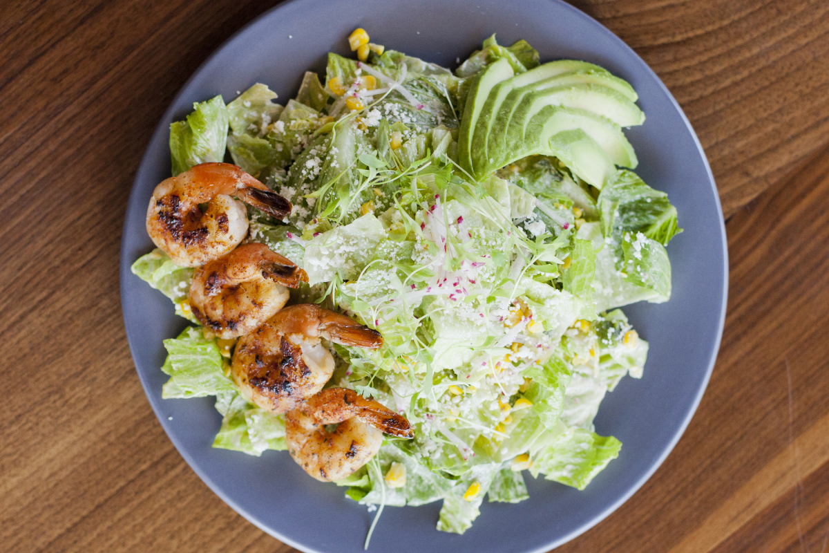 Shrimp & Elote Salad