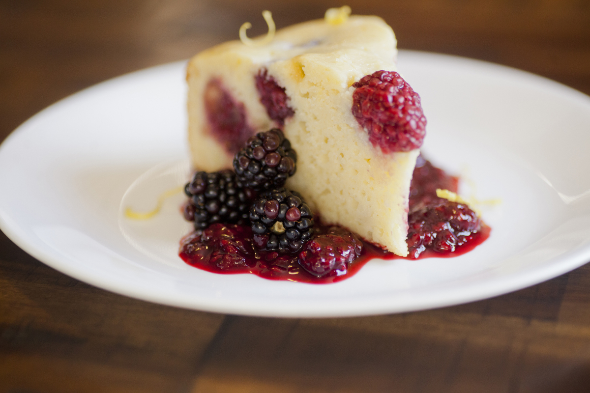 Lemon Berry Ricotta Cake