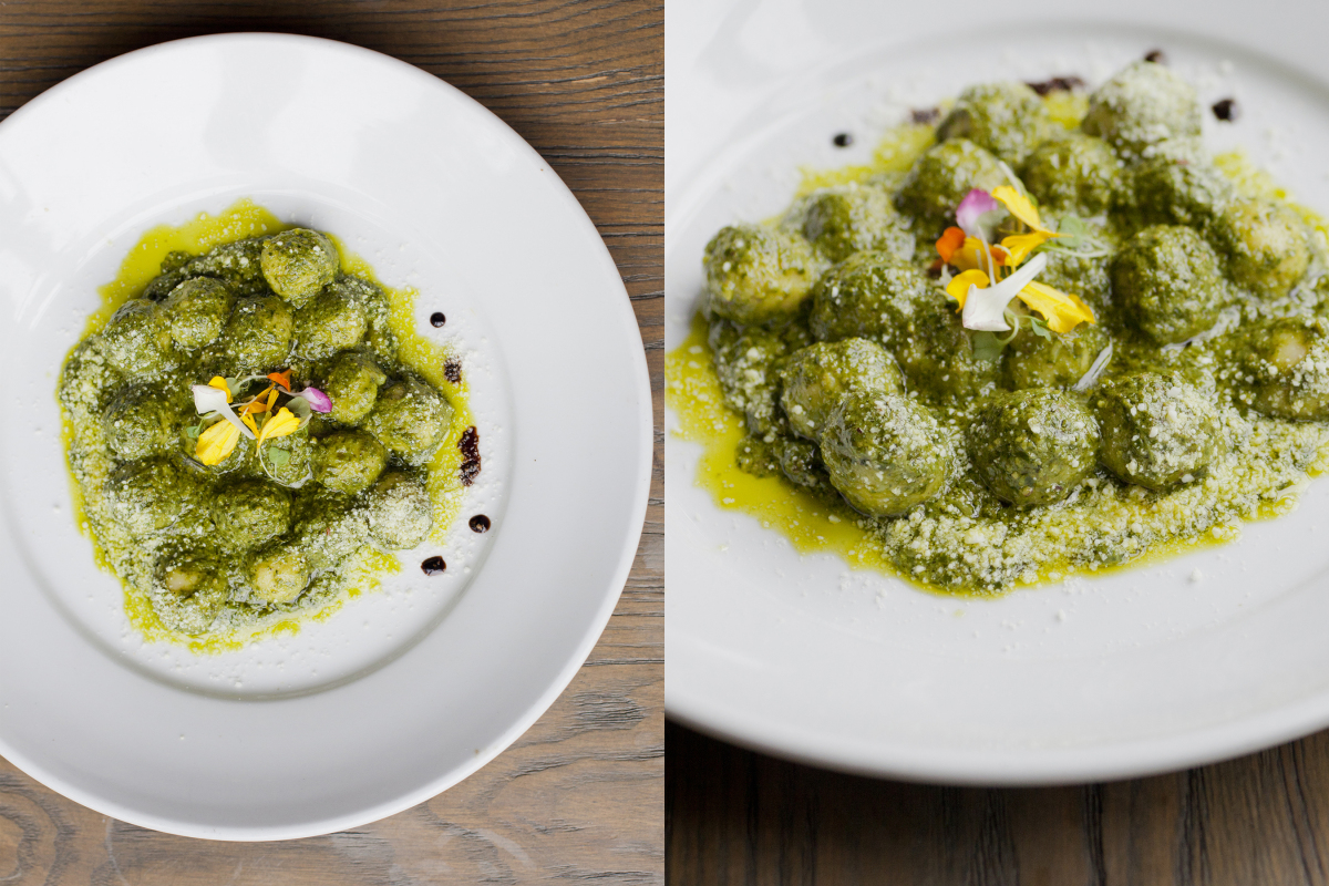 Potato Gnocchi with Pistachio Pesto