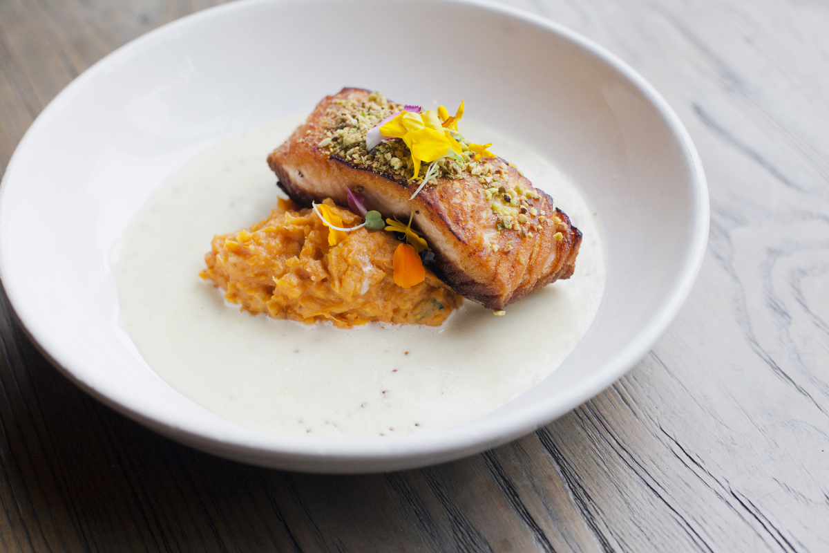 Pistachio Crusted Salmone
