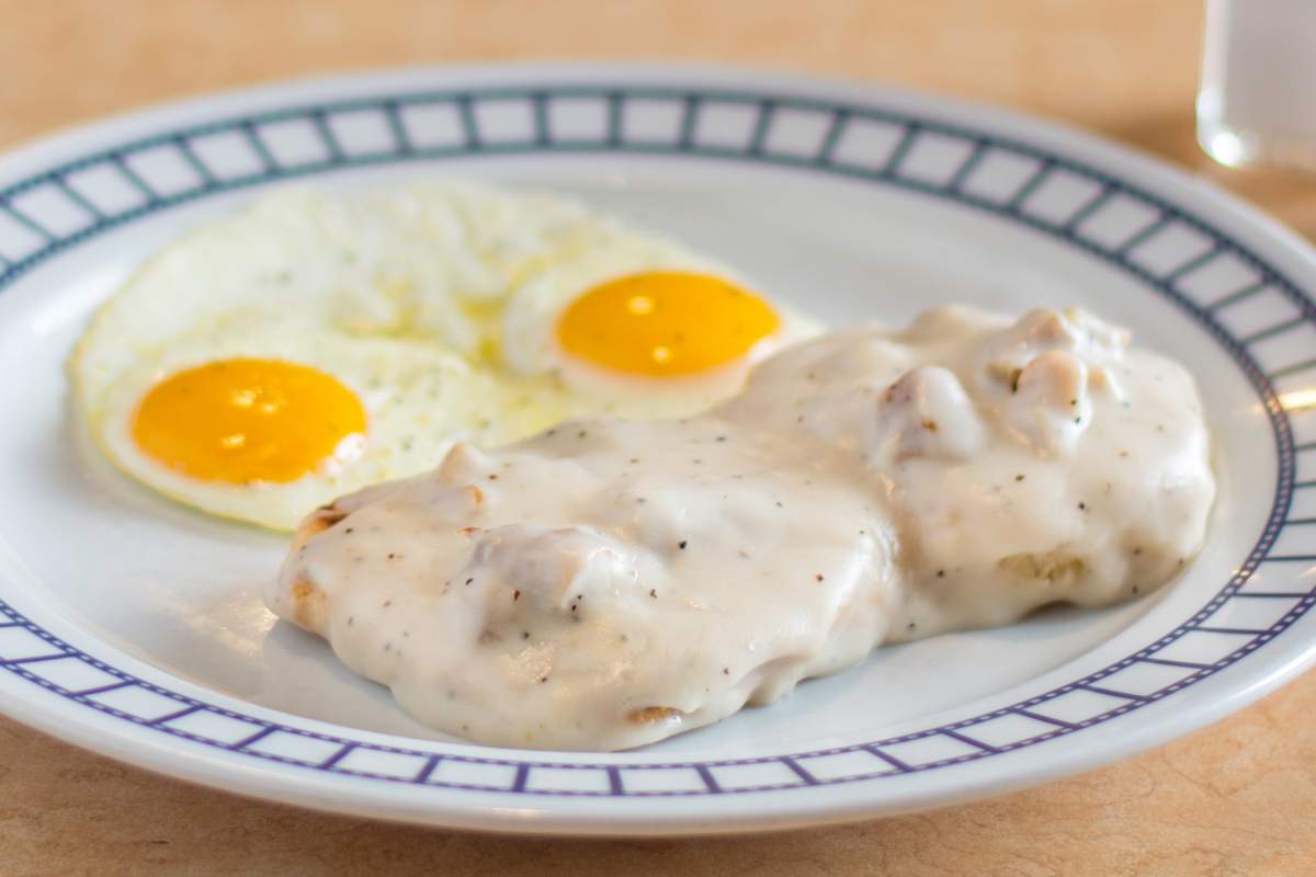Biscuits & Gravy w/ Two Eggs