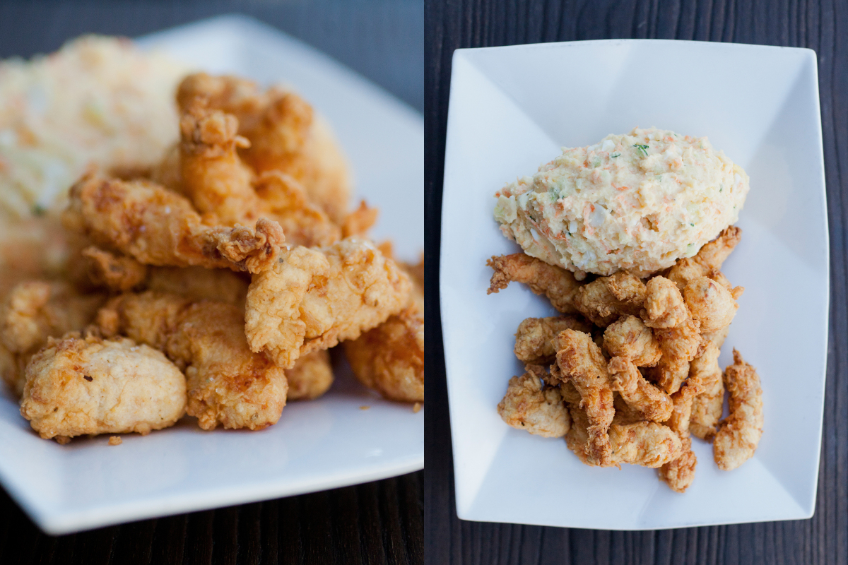 Popcorn Shrimp w/Potato Salad